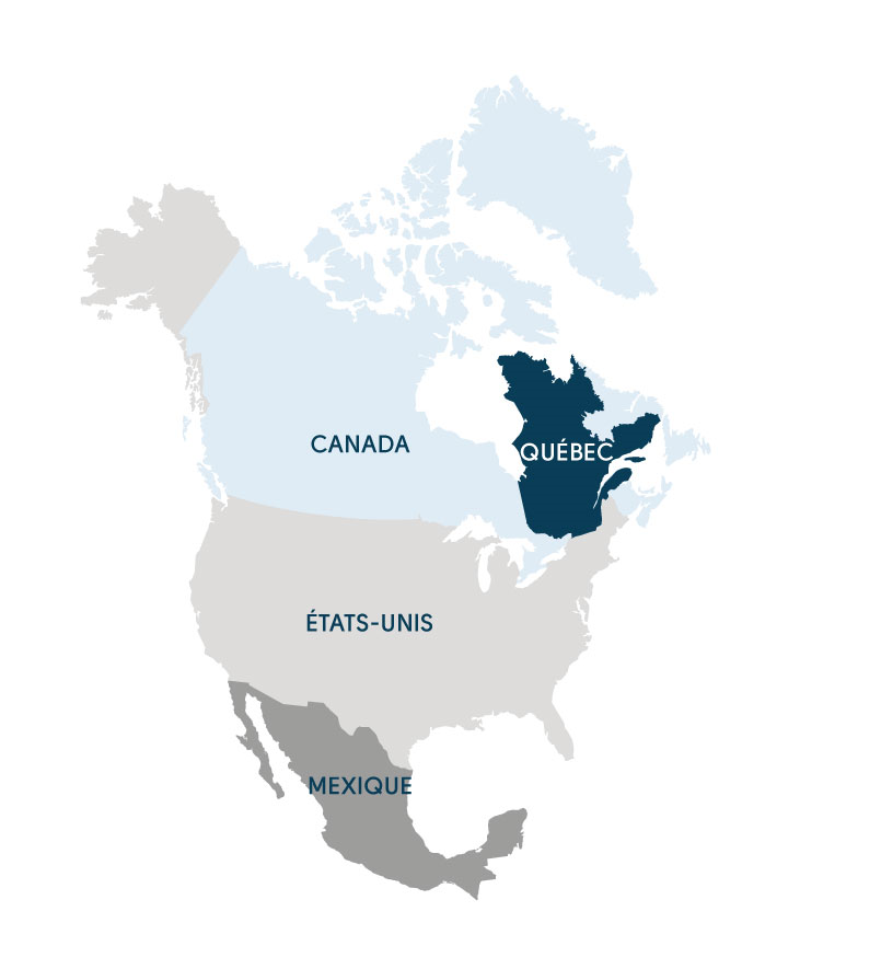 Carte du Quebec